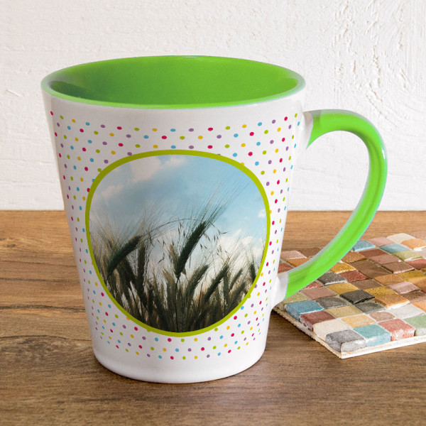 Kleine Tasse FUNNY Latte mit Wunschmotiv