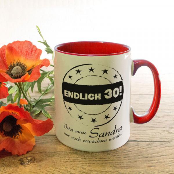Personalisierte Tasse zum 30.