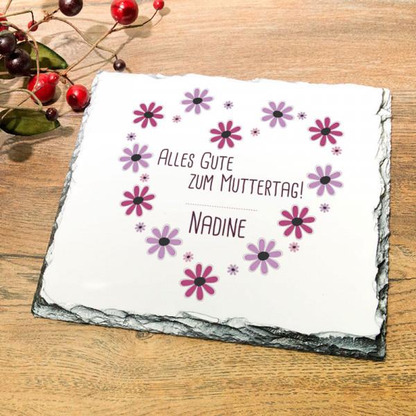 Platte aus Granit mit Wunschmotiv zum Muttertag