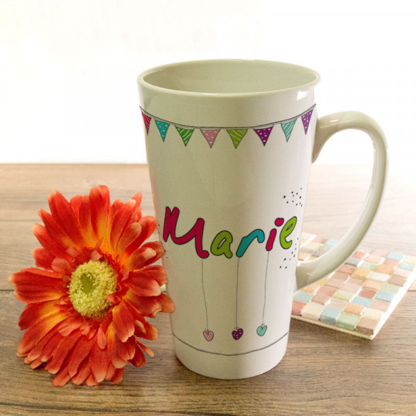 Große Tasse Latte mit Wunschmotiv für Frauen