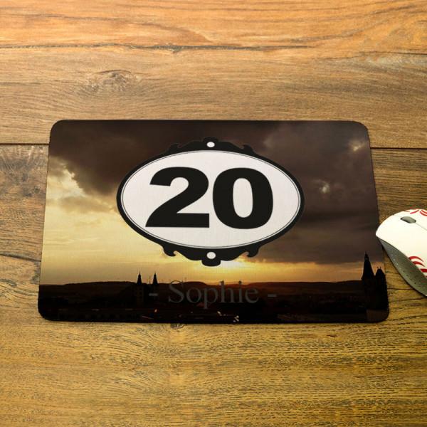 Mousepad mit Wunschmotiv zum 20.
