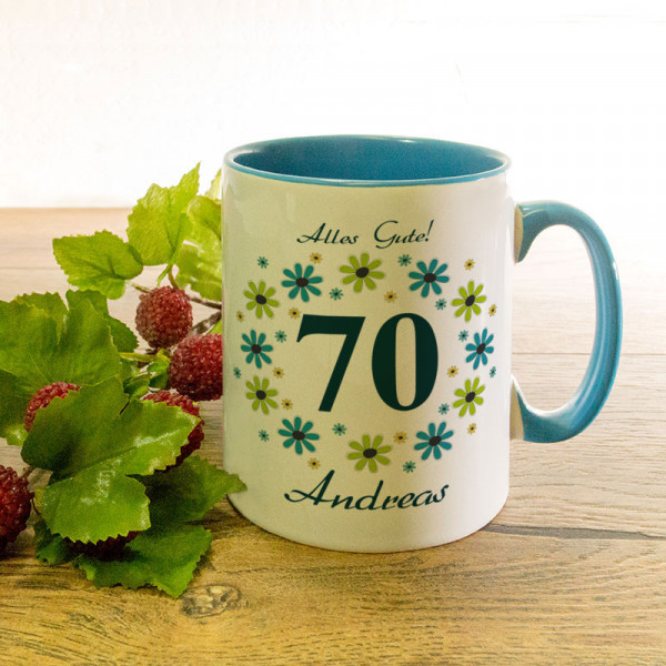 Personalisierte Tasse zum 70.