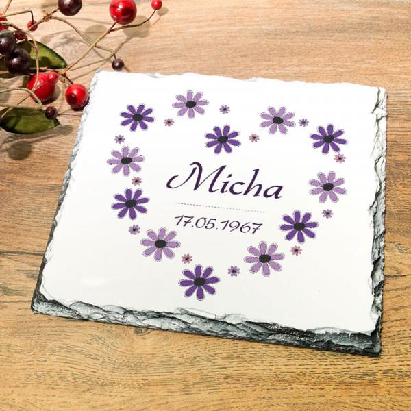 Personalisierte Granitplatte zum Geburtstag