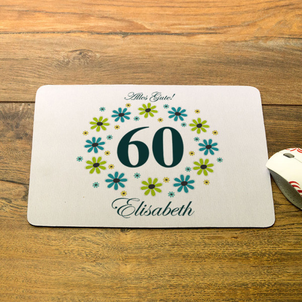 Mousepad mit Wunschmotiv zum 60.