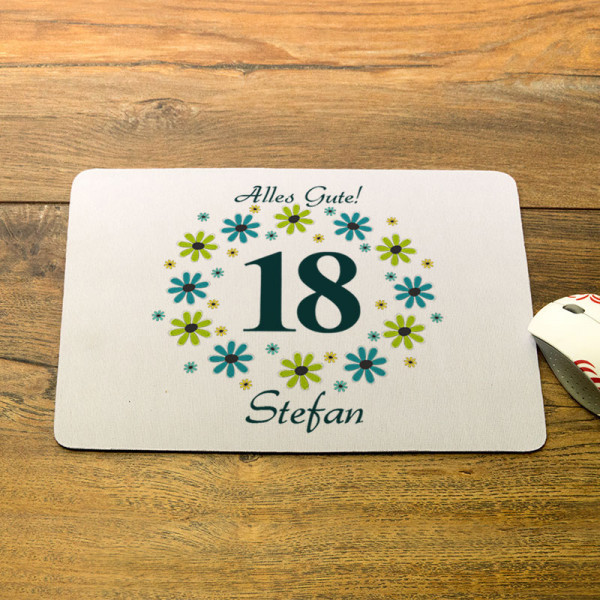 Personalisiertes Mousepad zum 18.