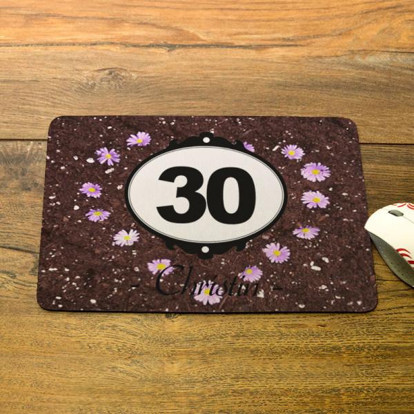 Mousepad mit Wunschmotiv zum 30.