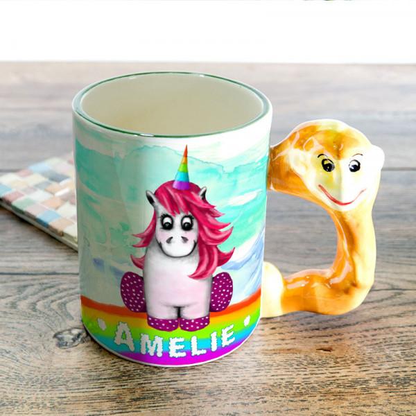 Tasse mit Henkel in Tierform für Kinder