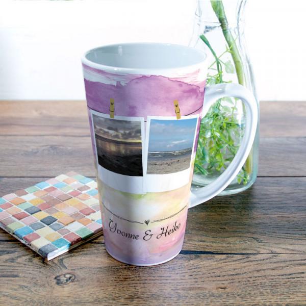 Große Tasse Latte mit Wunschmotiv