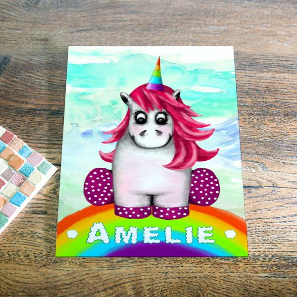 Blechpostkarte Din A5 aus Blech für Kinder