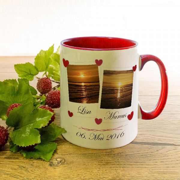 Tasse zur Hochzeit mit Ihren Lieblingsfotos
