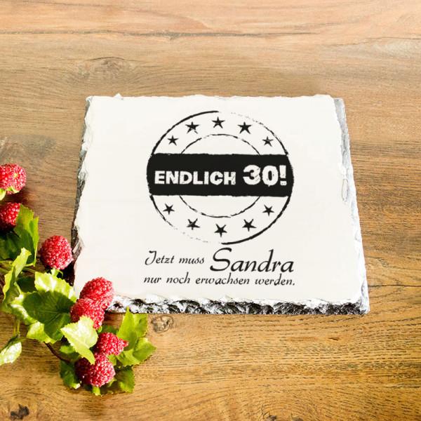 Personalisierte Granitplatte zum 30.