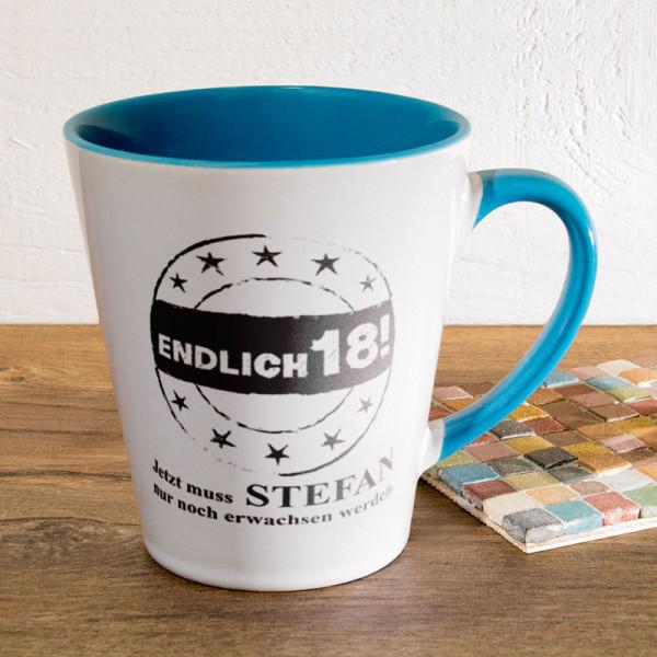 Personalisierte Tasse FUNNY Latte klein zum 18.