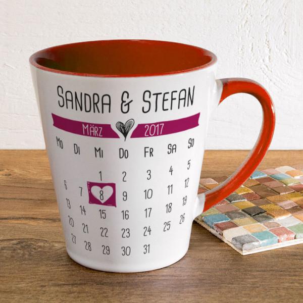 Personalisierte Tasse FUNNY Latte klein Anlass/Liebe
