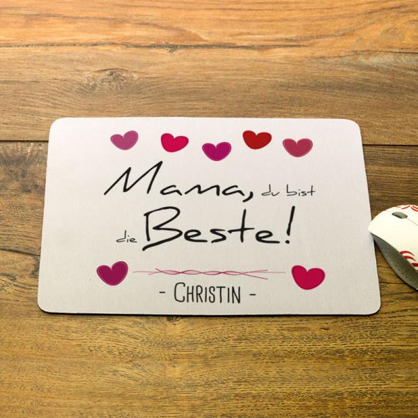 Mousepad mit Wunschmotiv zum Muttertag