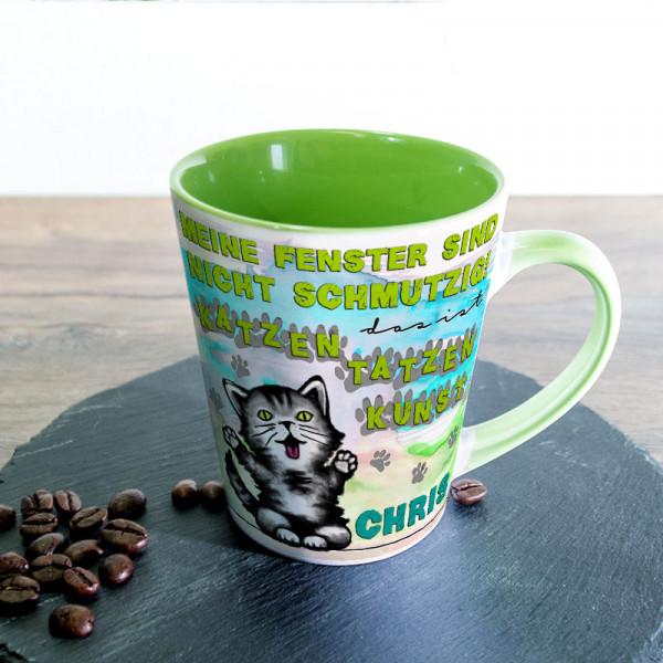 Tasse FUNNY Latte klein mit Katzentatzen für Kinder