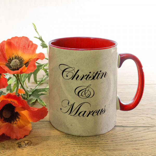 Personalisierte Tasse zur Hochzeit