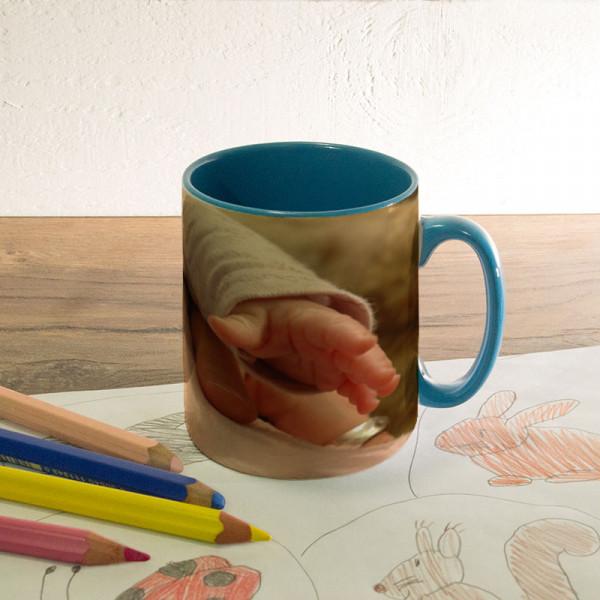 Tasse zur Geburt mit Wunschmotiv