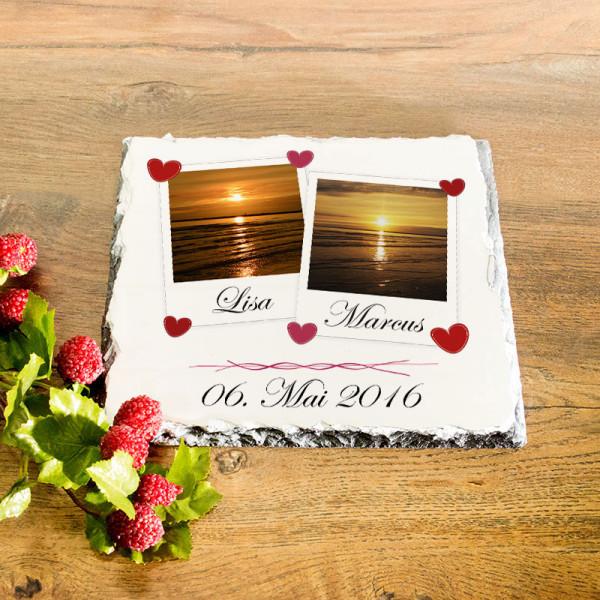 Platte aus Granit mit Wunschmotiv Anlass/Liebe