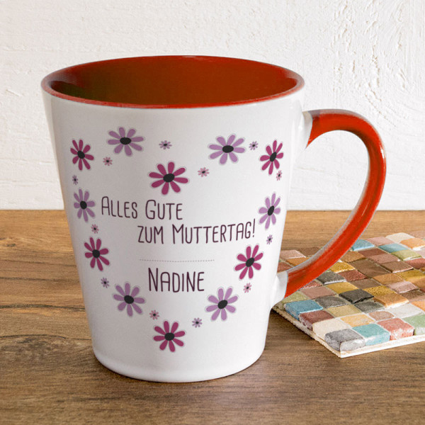 Personalisierte Tasse FUNNY Latte klein zum Muttertag