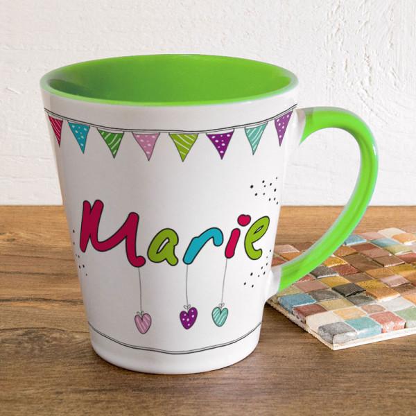 Personalisierte Tasse FUNNY Latte klein für Frauen