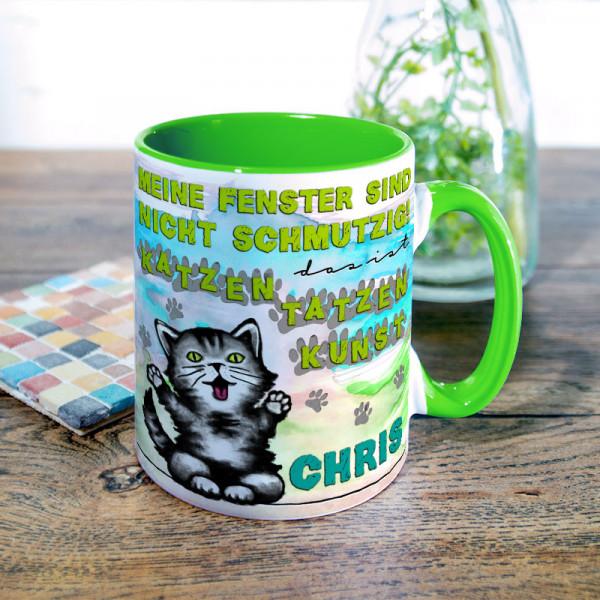 Tasse mit Katzentatzen für Kinder