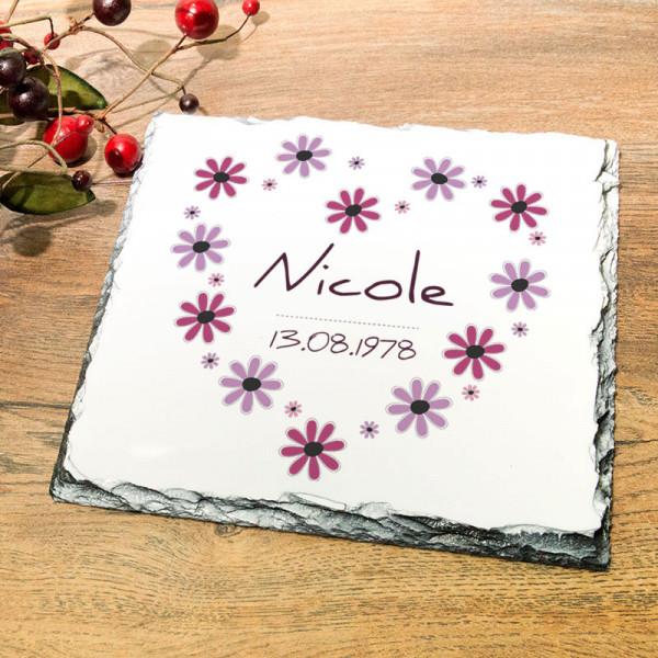 Personalisierte Platte aus Granit für Frauen