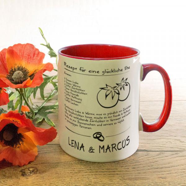 Tasse zur Hochzeit mit Ihrem Lieblingsmotiv