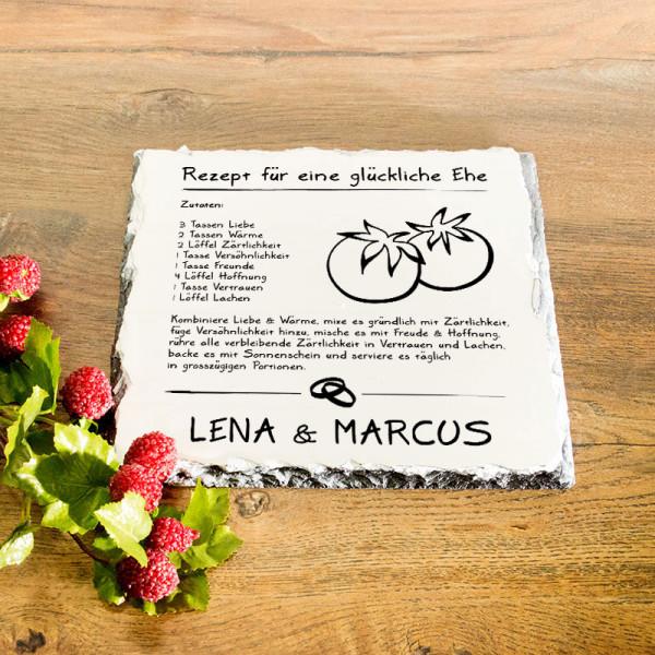 Granitplatte mit Ihrem Lieblingsmotiv zur Hochzeit
