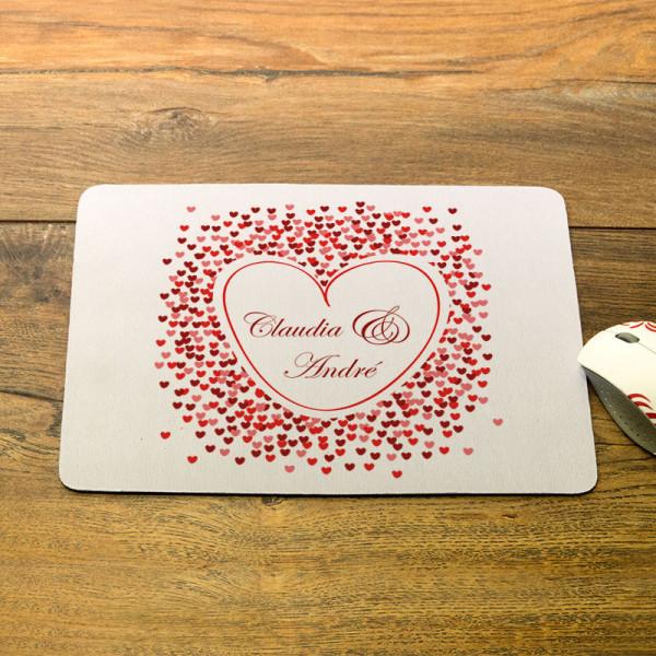 Mousepad mit Wunschmotiv zur Hochzeit