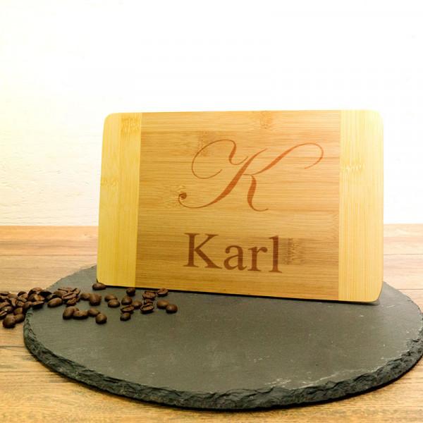 Personalisiertes Frühstücksbrett aus Holz zum Geburtstag