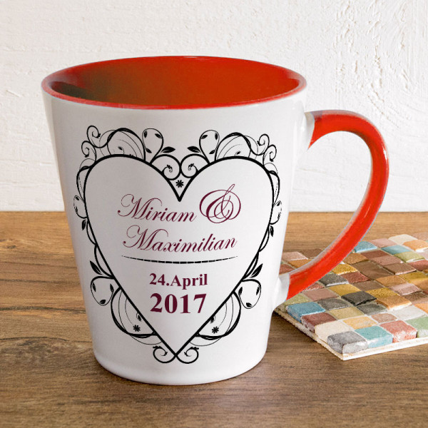 Tasse FUNNY Latte klein mit Ihrem Wunschmotiv zur Hochzeit