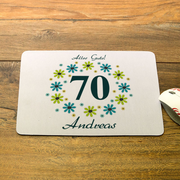 Mousepad mit Wunschmotiv zum 70.