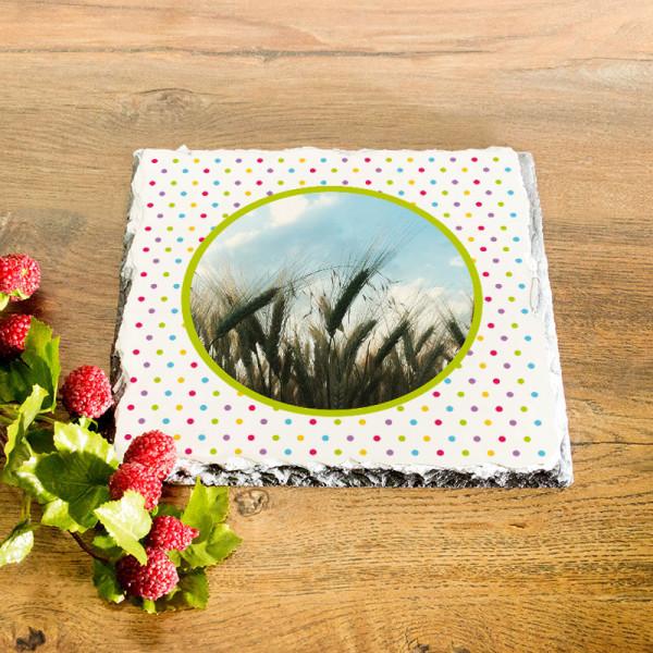 Platte aus Granit mit Ihrem Lieblingsfoto