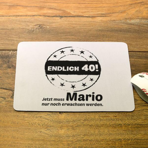 Personalisiertes Mousepad zum 40.