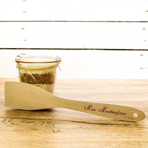 Pfannenwender aus Holz mit Gravur für Frauen