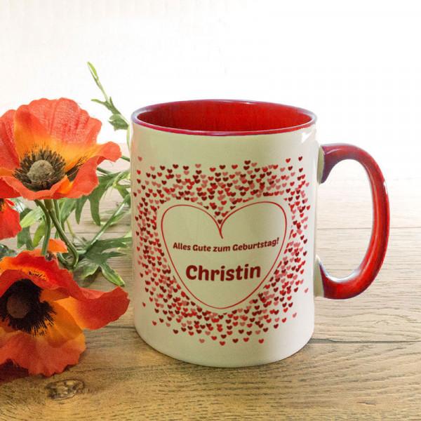 Tasse mit Ihrem Wunschmotiv zum Geburtstag