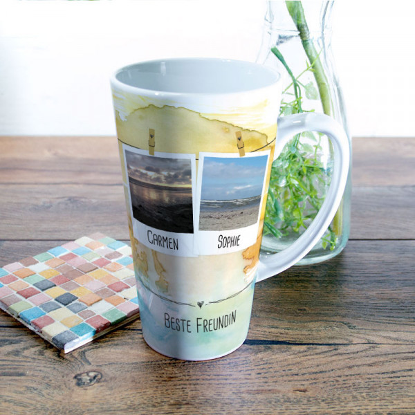Große Tasse mit Ihrem Wunschmotiv für die beste Freundin Anlass/Freundschaft