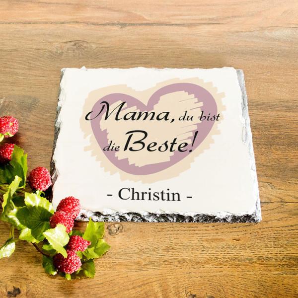 Personalisierte Platte aus Granit zum Muttertag