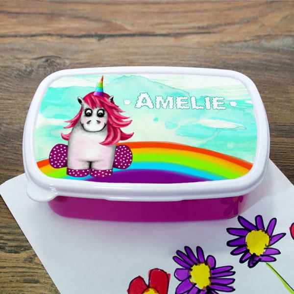 Brotdose für Kinder mit süßem Einhorn