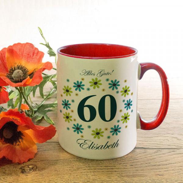 Tasse mit Wunschmotiv zum 60.