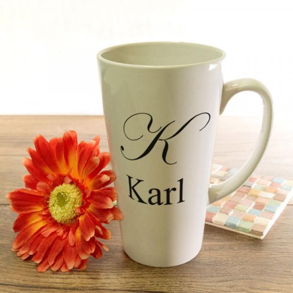Große Tasse Latte mit Wunschmotiv zum Vatertag