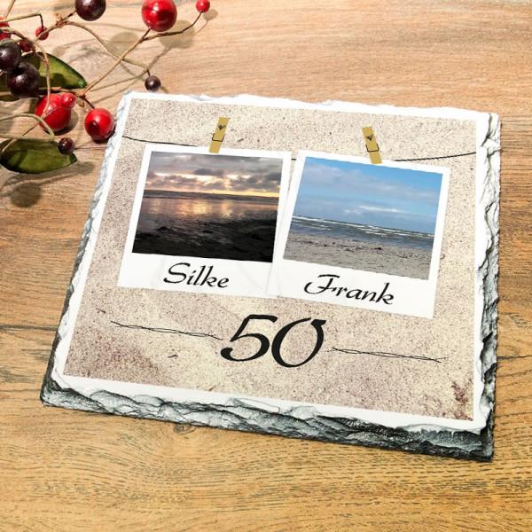 Granitplatte als Geschenk zur Goldenen Hochzeit