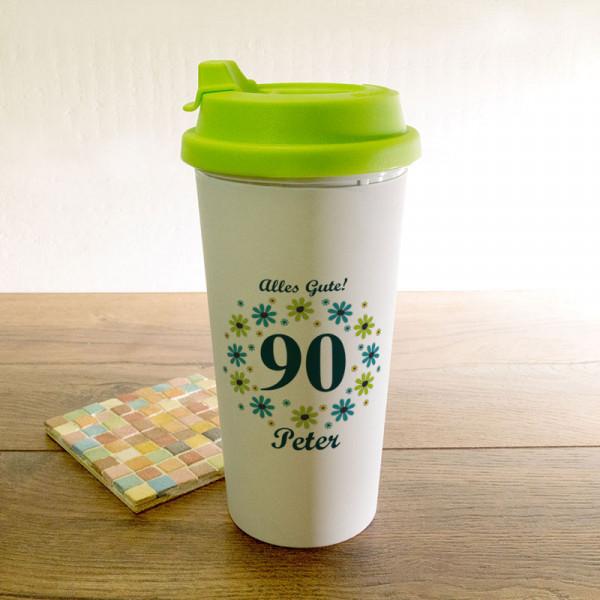 Personalisierter Trinkbecher zum 90.