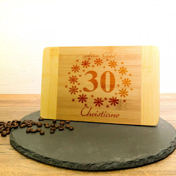 Personalisiertes Schneidebrett aus Holz zum 30.
