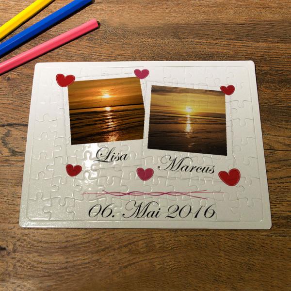 Puzzle DIN A5 mit Ihren Wunschfotos zur Hochzeit