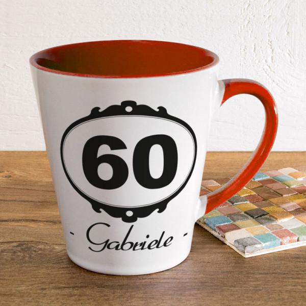 Personalisierte Tasse FUNNY Latte klein zum 60.