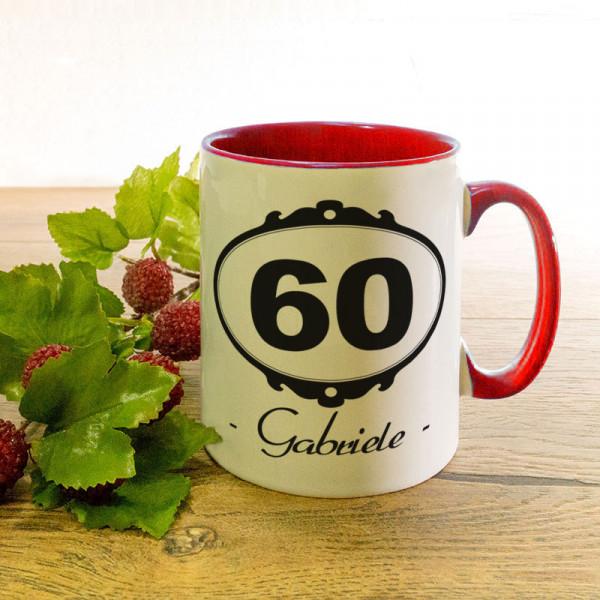 Personalisierte Tasse zum 60.