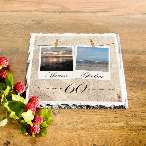Granitplatte als Geschenk zur Diamantenen Hochzeit