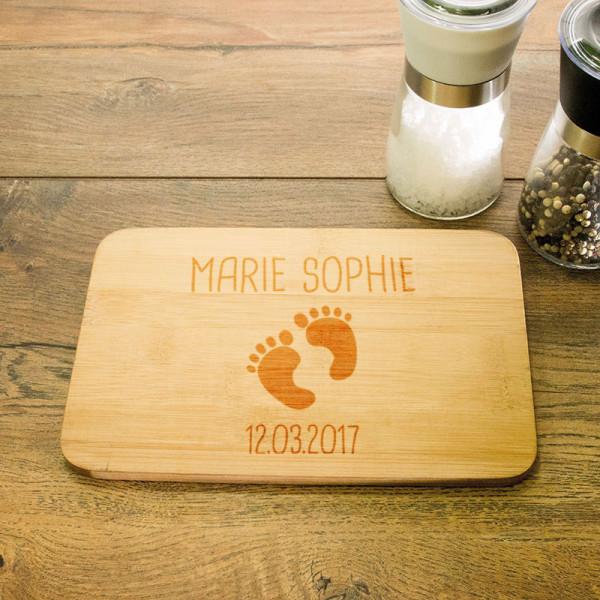 Personalisiertes Frühstücksbrett aus Holz für Kinder