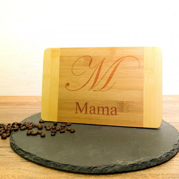 Schneidebrett aus Holz mit Wunschmotiv Muttertag